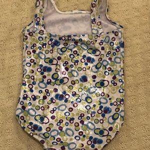 GK Costumes - GK Elite Shiny Bubbles Leotard - Child Small